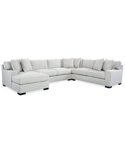 Bangor 4-Pc. Sectional Sofa with Chaise, Created for Macy's