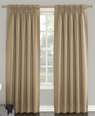 sun zero grant backtab pinch pleat curtain panel pairs