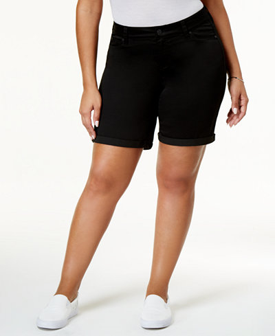 Celebrity Pink Trendy Plus Size Bermuda Shorts