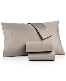 AQ Textiles Bergen King Pillowcases, 1000 Thread Count 100% Certified Egyptian Cotton