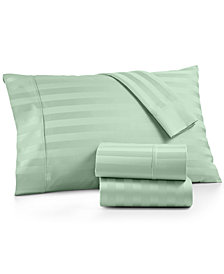 AQ Textiles Bergen Stripe 4-Pc. Full Sheet Set, 1000 Thread Count 100% Certified Egyptian Cotton