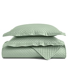 Charter Club Damask Cotton 2-Pc Quilted Twin Coverlet, Created for Macy's