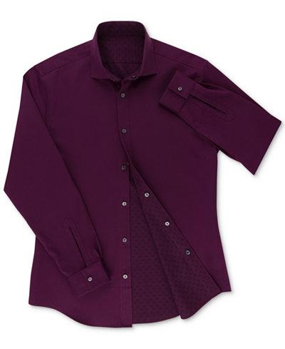 Calvin Klein Men's X Extra-Slim Fit Reversible Dress Shirt
