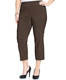 Plus & Petite Plus Size Tummy-Control Capri Pants, Created for Macy's