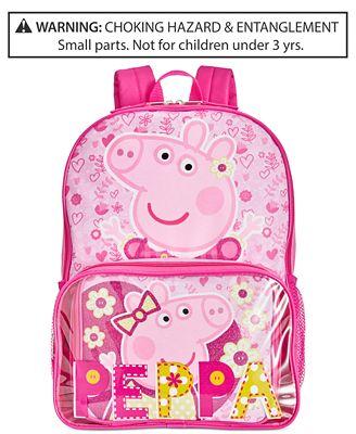 Peppa Pig Backpack & Lunch Bag, Little Girls (2-6X) & Big Girls (7 ...