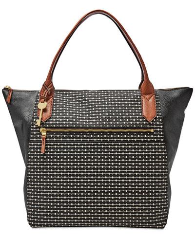 f684c942c53a58 Macy's Fossil Handbags Sale. Fossil Stanton Leather Satchel - Handbags &  Accessories ...