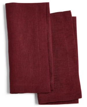 Hotel Collection Modern Wine 2Pc Linen Napkin Set Created for Macys