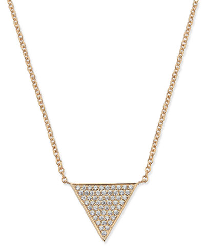 Diamond Pavé Triangle Pendant Necklace (1/6 ct. t.w.) in 14k Gold