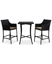 Ballston 3-Pc. Bar Set, Quick Ship