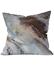 "Deny Designs Ginette Fine Art Rust 16"" Square Decorative Pillow"