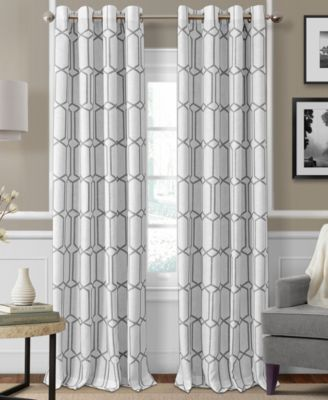 "Elrene Kaiden Blackout Linen 52"" x 95"" Window Panel"