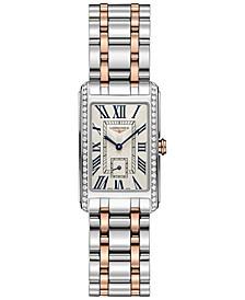 Women's Swiss DolceVita Diamond (1/2 ct. t.w.) 18k Rose Gold & Stainless Steel Bracelet Watch 23x37mm
