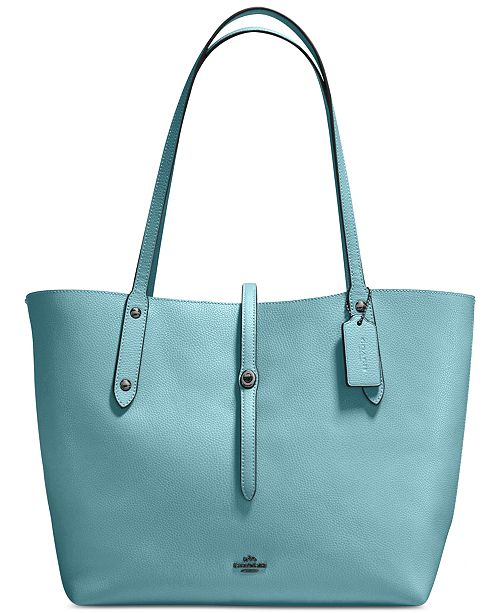 51d6609aea COACH Market Tote in Polished Pebble Leather   Reviews - Handbags ...