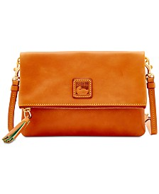 Dooney & Bourke Foldover Zip Leather Crossbody