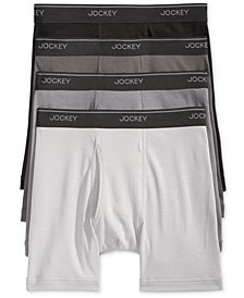 Jockey Men's 3+1 Bonus Cotton Staycool And Boxer Briefs