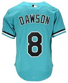 Mitchell & Ness Men's Andre Dawson Miami Marlins Authentic Mesh Batting Practice V-Neck Jersey
