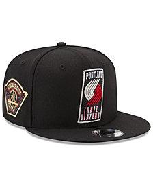 New Era Portland Trail Blazers All Metallic Hoops 9FIFTY Snapback Cap