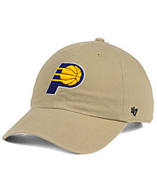 '47 Brand Indiana Pacers Khaki CLEAN UP Cap