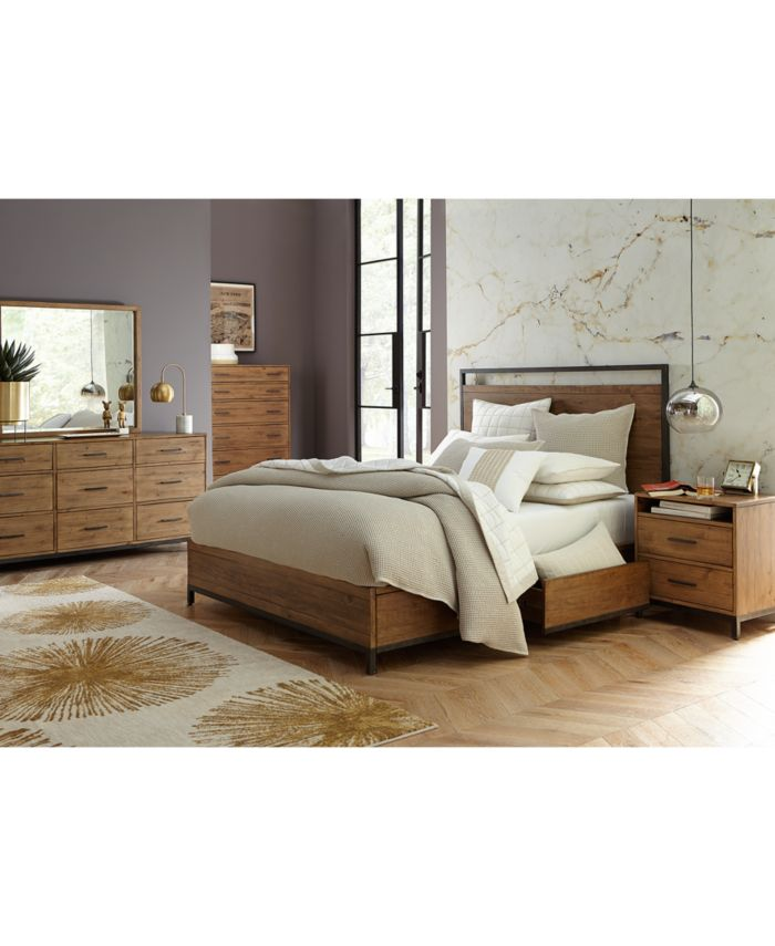 Furniture Gatlin Storage California King Platform Bed, Created for Macy's & Reviews - Furniture - Macy's
