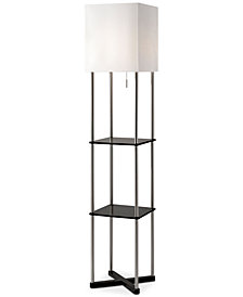 Adesso Harrison Shelf  Floor Lamp with USB Port