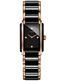 Women's Swiss Integral Diamond Accent Two-Tone Stainless Steel & Ceramic Bracelet Watch 22x33mm R20612712