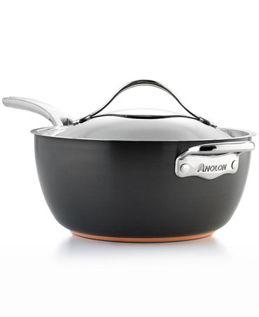 Anolon Nouvelle Hard Anodized Copper 5 5 Qt Covered