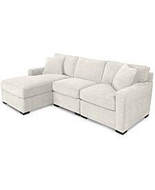 Radley 3-Piece Fabric Chaise Sectional Sofa - Custom Colors, Created for Macy's