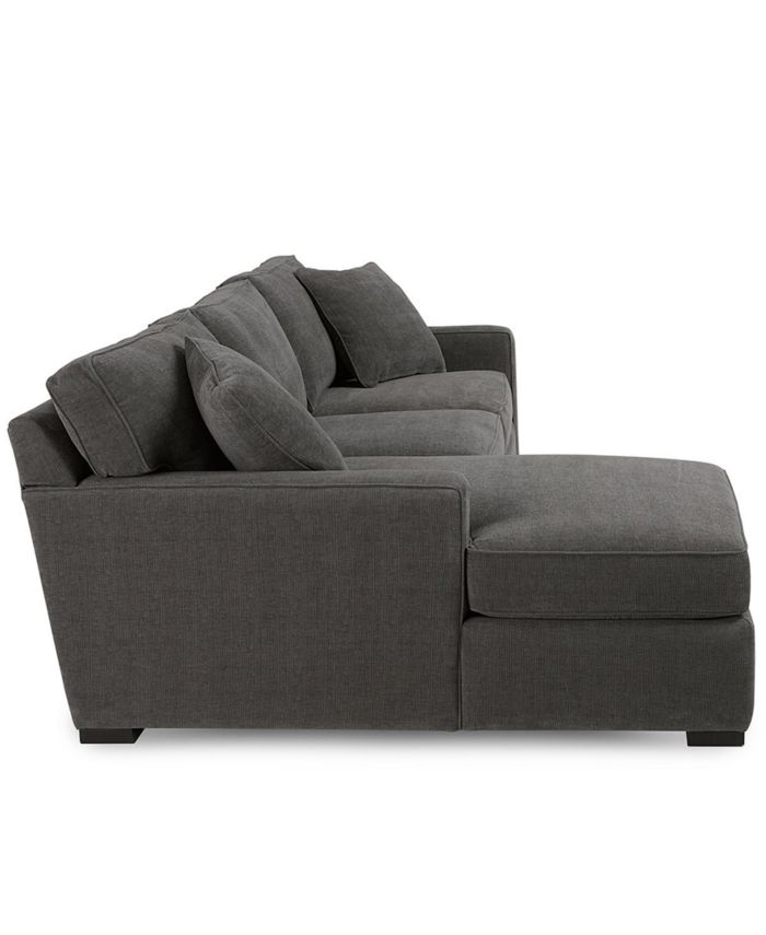 Furniture Radley 3-Piece Fabric Chaise Sectional Sofa, Created for Macy's & Reviews - Furniture - Macy's