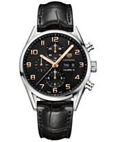 d97d1bc875e TAG Heuer Men s Swiss Automatic Chronograph Carrera Calibre 16 Black  Alligator Strap Watch 43mm