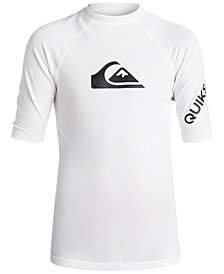 Quiksilver Graphic-Print Rash Guard, Big Boys