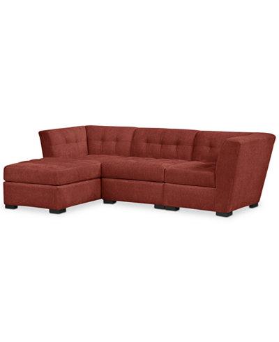 Roxanne 3 piece modular sectional sofa custom colors for Roxanne sectional sofa macy s
