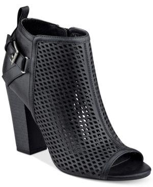G by Guess Jerzy Peep-Toe Block-Heel Booties Women