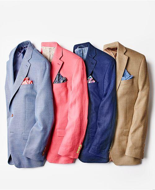 452525da Men's Classic-Fit Ultra-Flex Solid Linen Sport Coat