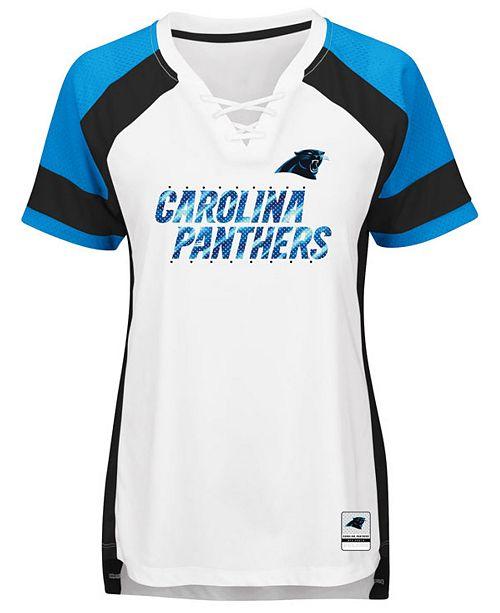 Majestic Women s Carolina Panthers Draft Me T-Shirt - Sports Fan ... 237aba0abfdc