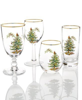Christmas Tree Glassware Wine Glass, Set of 4