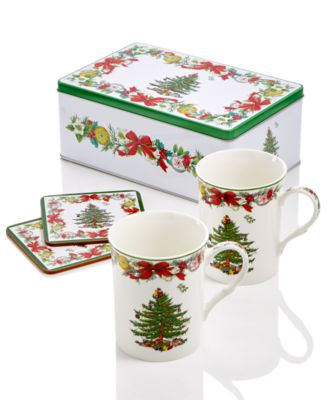 spode christmas tree annual 5piece tin gift set