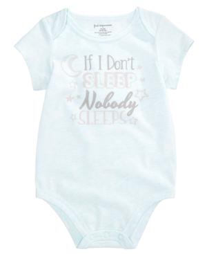 First Impressions Nobody Sleeps Bodysuit Baby Boys  Girls (024 months) Created for Macys