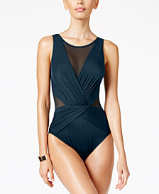 Miraclesuit Illusionists Palma Mesh Allover Slimming One-Piece Swimsuit