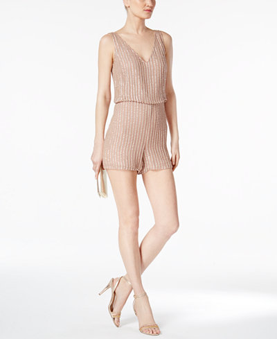 Adrianna Papell Sequined Romper