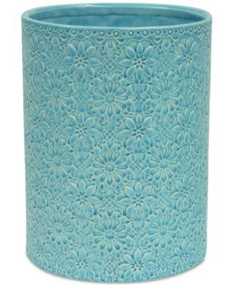 Jessica Simpson Bonito Blue Wastebasket