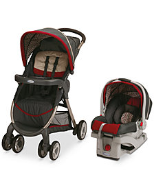 Graco FastAction Fold Stroller & SnugRide Click Connect 30 Car Seat Travel System