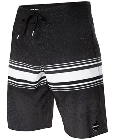 O'Neil Men's Hyperfreak Fusion Colorblocked Stripe 20 Boardshorts