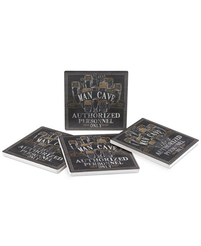 Thirstystone Man Cave 4-Pc. Coaster Set