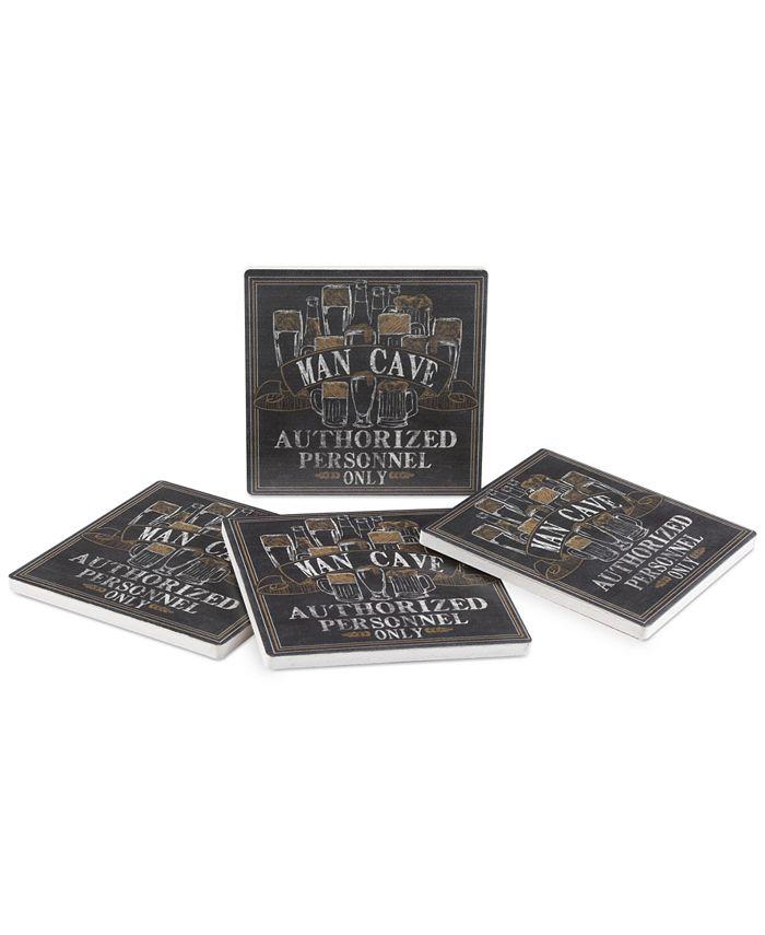 Thirstystone - Man Cave 4-Pc. Coaster Set