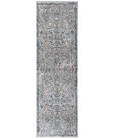 "Provence Kashan Grey/Blue 2'2"" x 6'11"" Runner Rug"