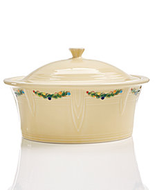 Fiesta Christmas Tree Large Covered Casserole