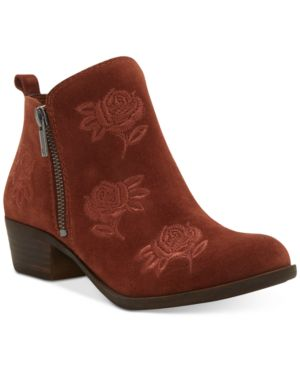 Women'S Basel Embroidery Booties, Created For Macy'S Women'S Shoes in Red Oak