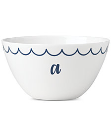 Lenox Navy Scallop Monogram All-Purpose Bowl