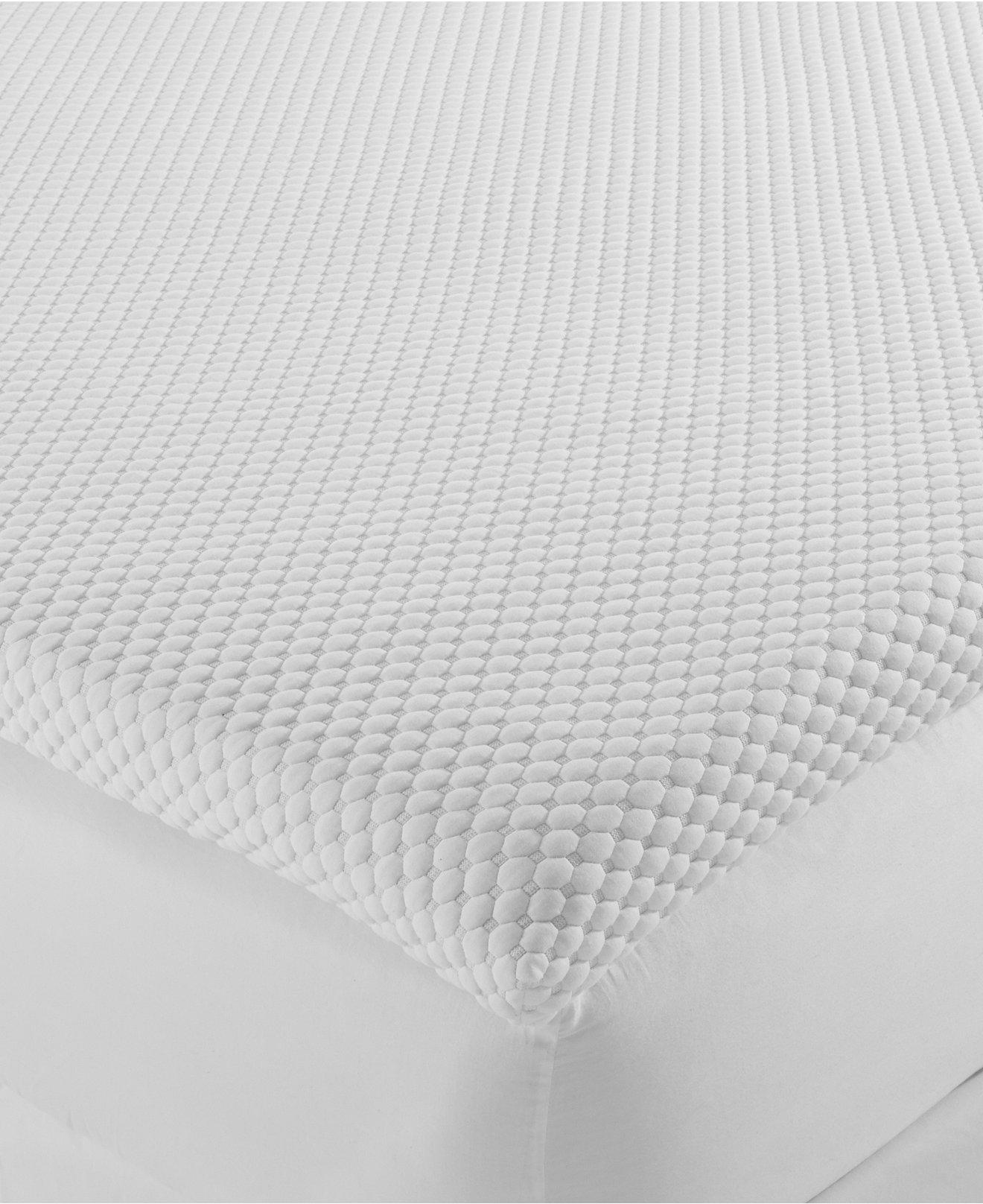 "Dream Science 3"" Adjustable Firmness Memory Foam Mattress Topper By Martha  Stewart Collection, Created"
