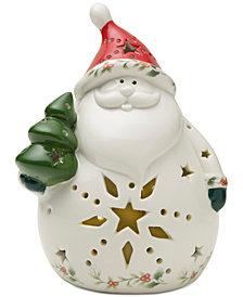Pfaltzgraff Winterberry LED Santa Figure
